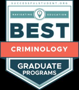 10 Best Graduate Criminology Programs's Badge