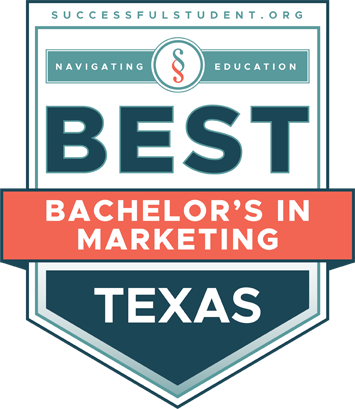 The Best Bachelor's Degrees in Marketing in Texas's Badge