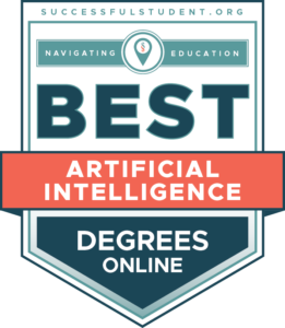 Best Online Artificial Intelligence Degrees for 2021's Badge