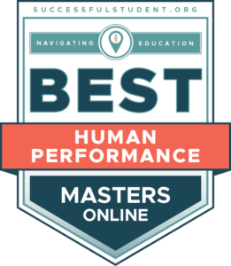 The Best Online Master's Degrees in Human Performance's Badge