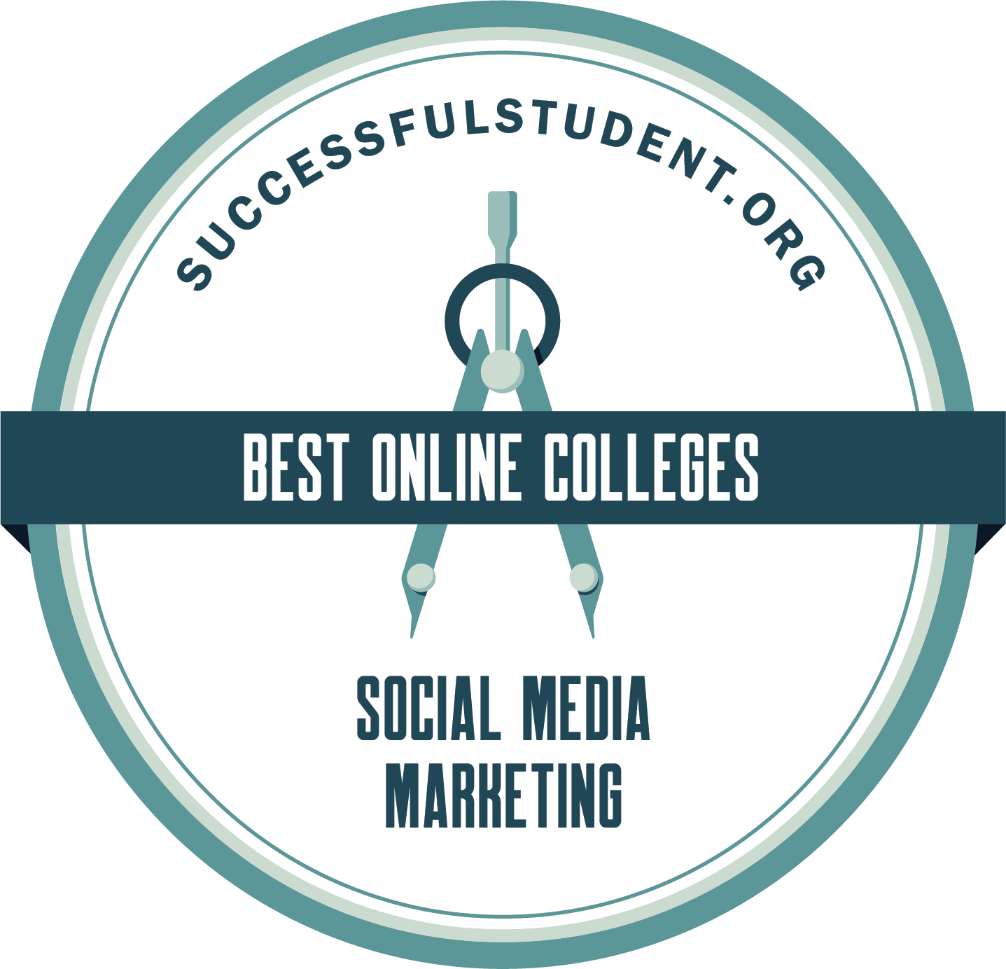 The 10 Best Online Social Media Marketing Colleges's Badge