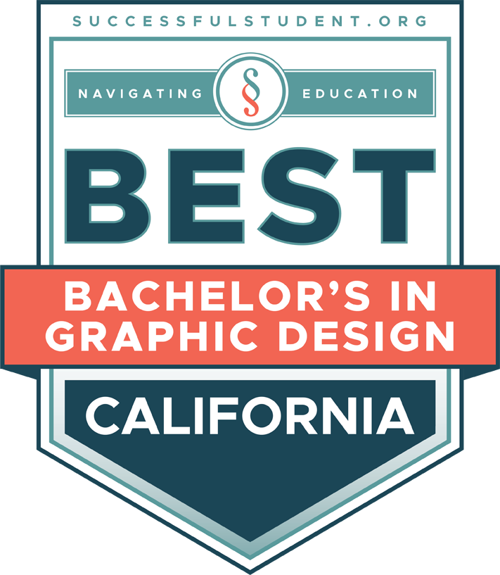The Best Bachelor's Degrees in Graphic Design in California's Badge