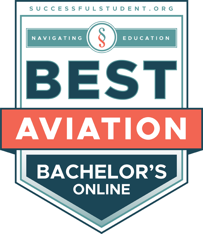 The Best Online Bachelor's Degrees in Aviation's Badge