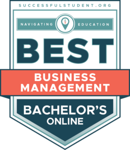 The 25 Best Online Bachelor's in Business Management Degree Programs's Badge