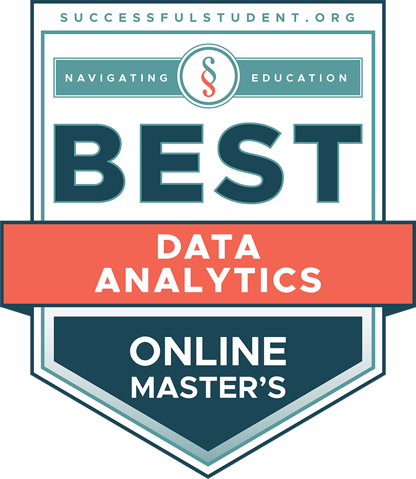 The Best Online Master's Degrees in Data Science's Badge
