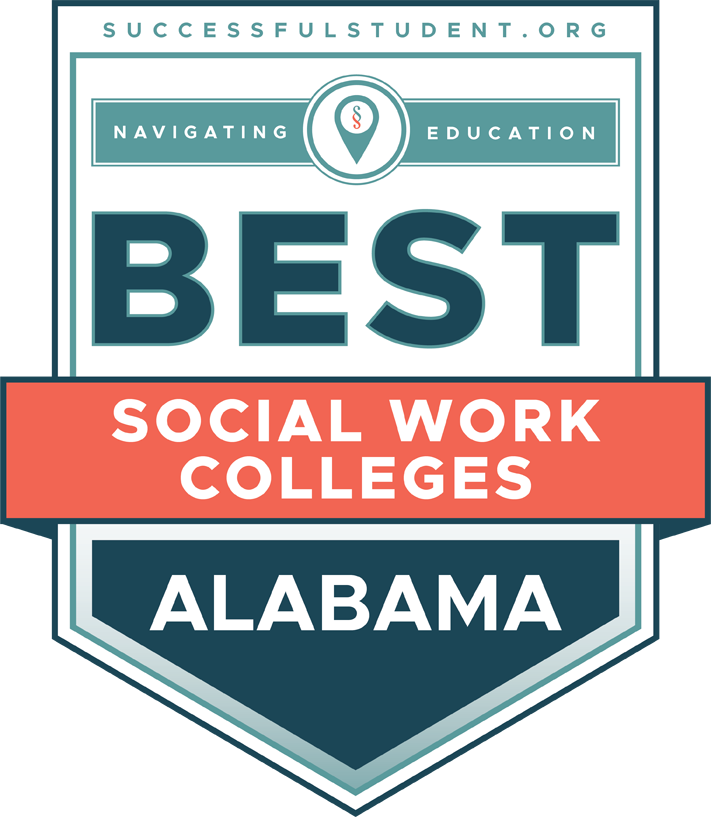 The Best Social Work Colleges in Alabama's Badge